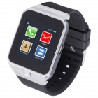 "AOLUGUYA M6 Bluetooth V3.0 Smart Watch w/ 1.54"" Touch Screen, Phone, SMS, Pedometer, FM - Black"