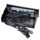 "5.25"" PC Chassis Front Panel 3.8"" LCD Temperature + Fans Controller + Calendar + HDD Panel"