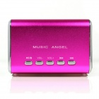 MD-05 Mini-USB aufladbare MP3-Player-Lautsprecher w / TF Slot / LED-Licht - Deep Pink