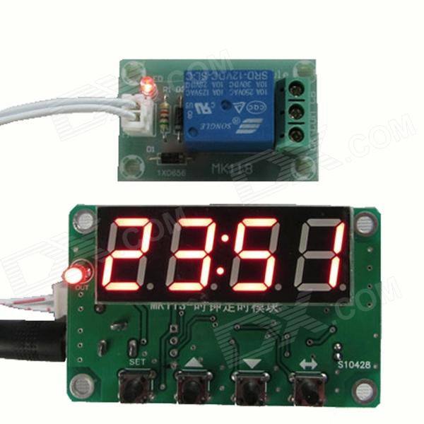 HF-MK113 0.56' 4-Digit Red Numerical Control Timer Modules Kit - Blue (DC 12V) h3y 4 dc 12v delay timer time relay 0 5 min with base