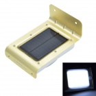 CHEERLINK 1W 100lm 16-LED Motion + Sound Control White Light Solar Power Waterproof Wall Light