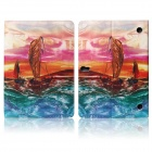 Hat-prince Sailing Boat Pattern Protective Case for Samsung Galaxy Tab S 10.5 T800 - Multicolor