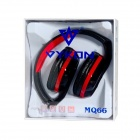 OVLENG A1 Superb 3.5 mm On-ear Headphones with Microphone - Black + Red