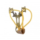 Savage Tribes Peacock Style Slingshot Toy - Bronze
