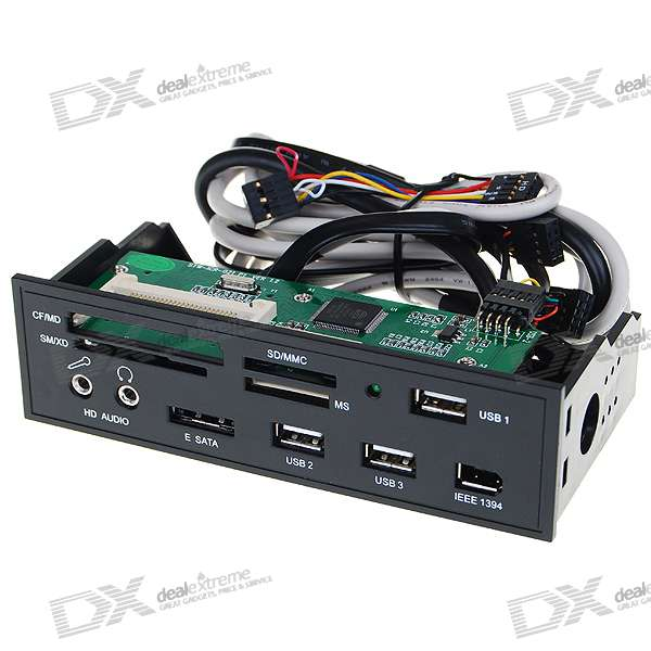 5 25 Pc Chassis Front Panel Card Reader With 3 Usb Ieee1394 Esata 2 3 5mm Audio 34063 on Usb 3 0 5 25 Front Panel