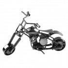 DF-022 Metal Motorbike Desk Decoration Artwork Toy w/ Rotatable Wheels / Front - Silver Grey