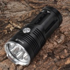RichFire RF-344 5235lm White 3-Mode LED Flashlight w/ 7 x Cree XM-L2 U2 - Black + Silver (4 x 18650)