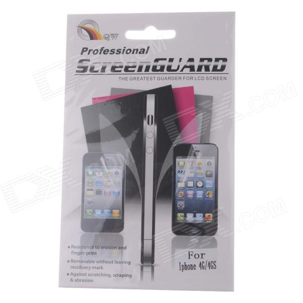 Protective Clear Screen Protector Film Guard for IPHONE 4/4S - Transparent y sw5 protective matte screen protector guard film for iphone 4 4s transparent