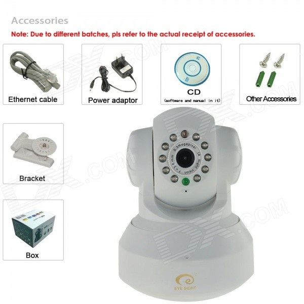 Eye Sight ES-IP602IW MJPEG Pan Tilt P2P IP Camera (EU Plug)