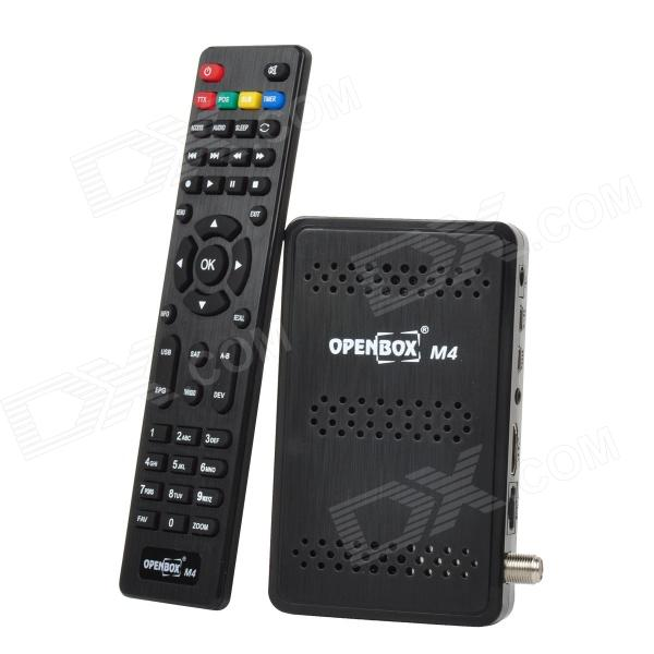 Openbox M4 HD Satellite Receiver  / TV Box w/ Arabic IPTV / Wi-Fi / GPRS / 3G - Black
