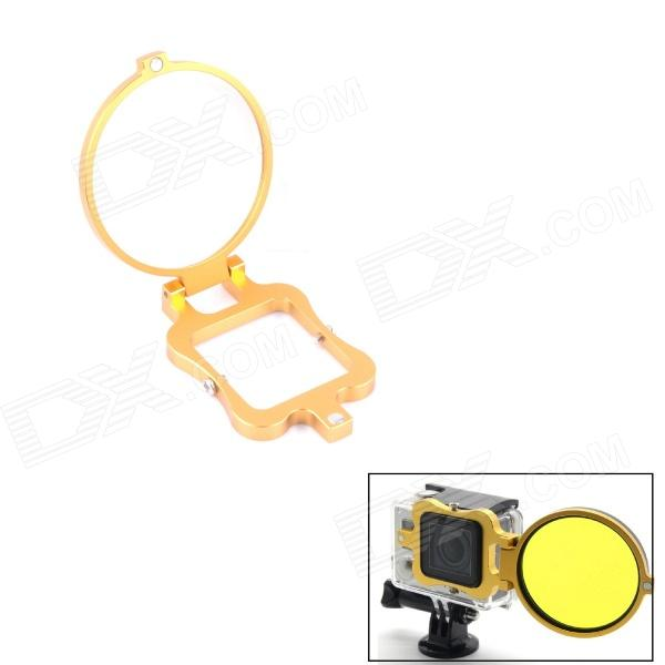 PANNOVO 58mm Underwater Color-Correction Diving Filter Converter Ring for Gopro Hero 3+ - Golden free shipping upper fuser roller heat roller used for minolta di550 di570 di470 di450 copier spare parts laser parts 1pcs lot