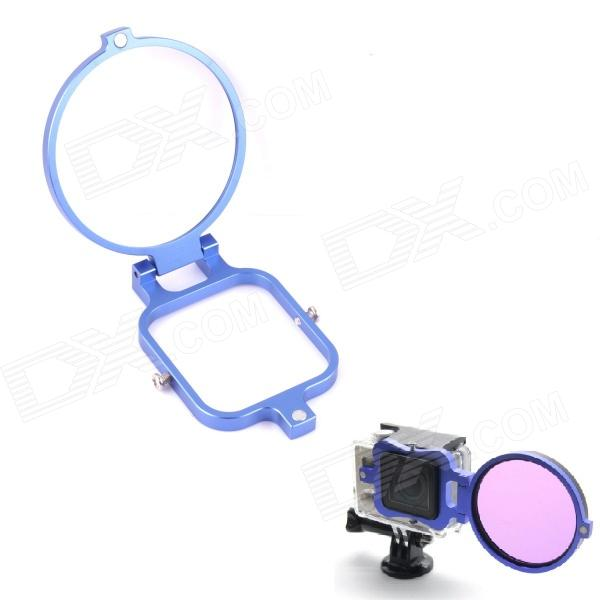 PANNOVO 58mm Underwater Color-Correction Diving Filter Converter Ring for Gopro Hero 3 - Blue