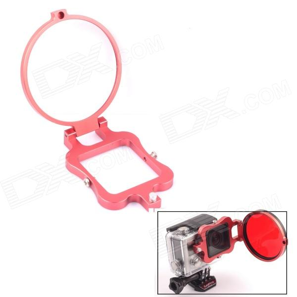 PANNOVO 58mm Underwater Color-Correction Diving Filter Converter Ring for GoPro Hero 3+ - Red