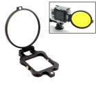 PANNOVO 58mm Underwater Color-Correction Diving Filter Converter Ring for GoPro Hero 3+ - Black