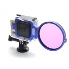 PANNOVO 58mm Underwater Color-Correction Diving Filter Converter Ring for GoPro Hero 3+ - Blue