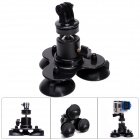 Fat Cat M-ATS Triple-Cup Suction Mount w/ Rotary Head for GoPro Hero 3+ / 3 / 2 / SJ4000 - Black