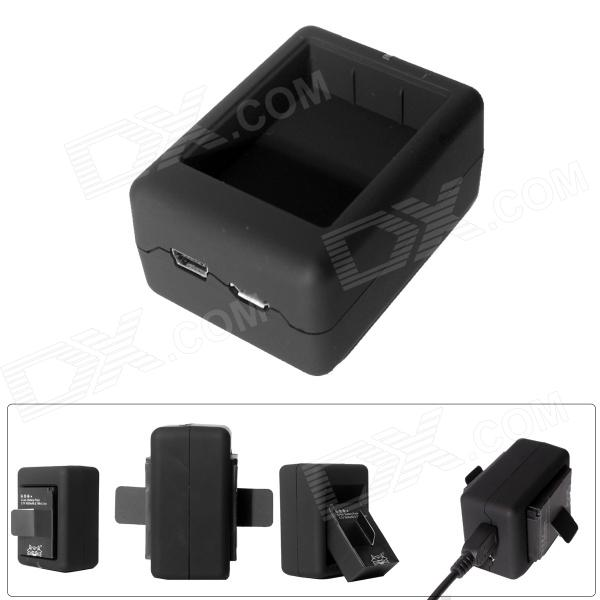 Fat Cat Smart Dual-Slot Travelling Fast Charger for GoPro Hero3+/3 - Black