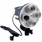 FUSHI Tong TL-V-4 Steady-On 4-Head Softbox Photography / Video Light Holder - Black + White