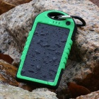 SP5000 Universal Waterproof + Shockproof + Dustproof 4000mA Solar Powered Li-ion Battery Power Bank
