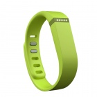 Replacement Large Sports TPE + TPU Wrist Band w/ Clasp for Fitbit Flex Smart Bracelet - Green