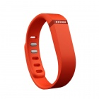 Replacement Large Sports TPE + TPU Wrist Band w/ Clasp for Fitbit Flex Smart Bracelet - Orange