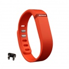 Large Wrist Band w/ Clasp for Fitbit Flex Smart Bracelet - Orange