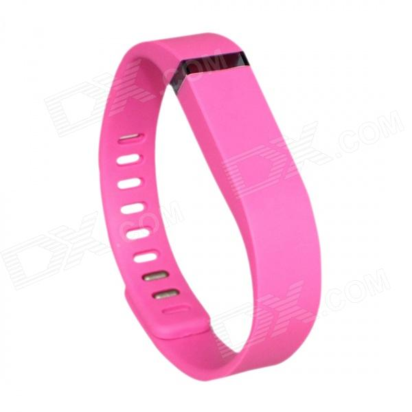 Replacement Large Sports TPE + TPU Wrist Band w/ Clasp for Fitbit Flex Smart Bracelet - Pink