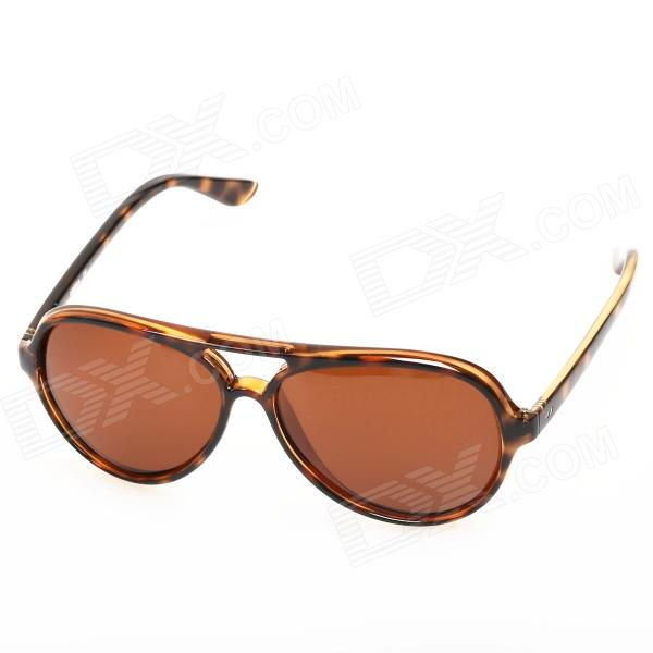 OREKA Retro Style Cellulose Acetate Frame Resin Lens UV400 Protection Sunglasses - Tawny oreka children s cool cellulose acetate frame blue revo lens uv400 sunglasses brown blue