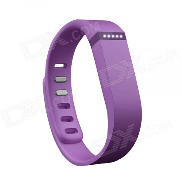 Replacement Large Sports TPE + TPU Wrist Band w/ Clasp for Fitbit Flex Smart Bracelet - Purple