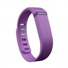 Large Wrist Band w/ Clasp for Fitbit Flex Smart Bracelet - Purple