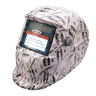 NEJE Solar Auto Darkening UV / IR Protection Welding Helmet Goggles - White + Black