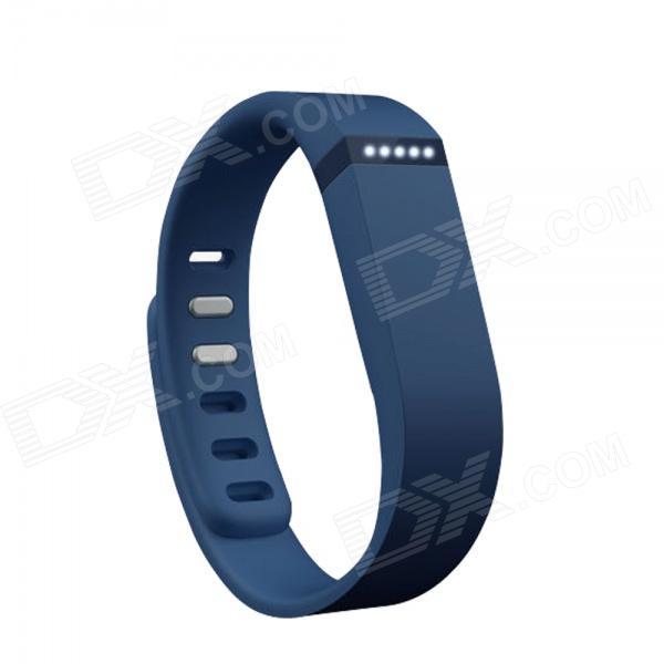 Replacement Large Sports TPE + TPU Wrist Band w/ Clasp for Fitbit Flex Smart Bracelet - Deep Blue