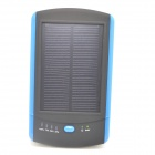ODEM Solar Powered Universal 5V 6000mAh Li-polymer Battery External Power Bank - Blue + Black