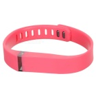Replacement Large Sports TPE + TPU Wrist Band w/ Clasp for Fitbit Flex Smart Bracelet - Deep Pink