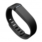 Replacement Large Sports TPE + TPU Wrist Band w/ Clasp for Fitbit Flex Smart Bracelet - Black