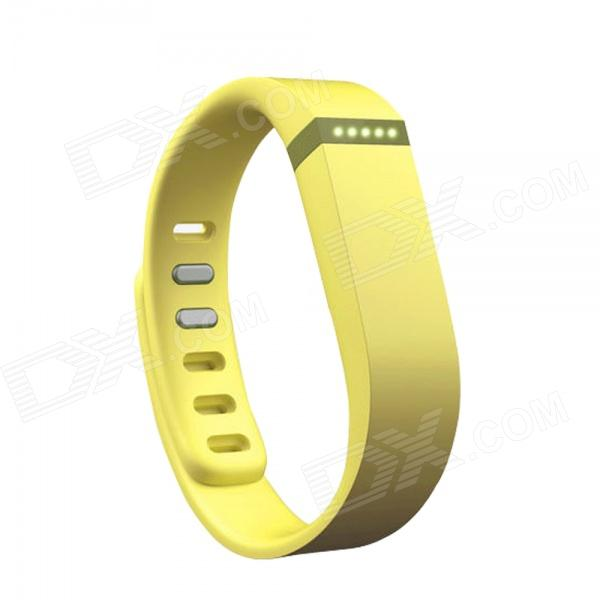 Replacement Large Sports TPE + TPU Wrist Band w/ Clasp for Fitbit Flex Smart Bracelet - Yellow