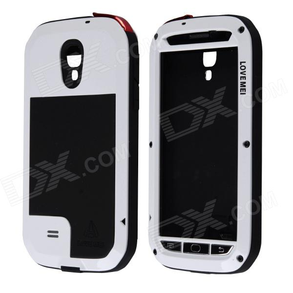 LOVE MEI Aviation Aluminum Alloy Case for Samsung Galaxy S4 - White + Transparent