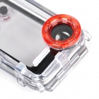 WP-i5 40M Diving Waterproof Photo Protective Case for IPHONE 5 / 5S / 5C - Red