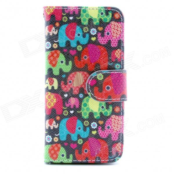 Elephant Pattern Flip-open PU Leather Case w/ Stand + Card Slot for IPHONE5 / 5S an illustrated history of britain