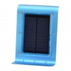 CHEERLINK 1W 100LM 16-3528 SMD LED Voice + Light Control Cool White Outdoor Solar Wall Lamp - Blue