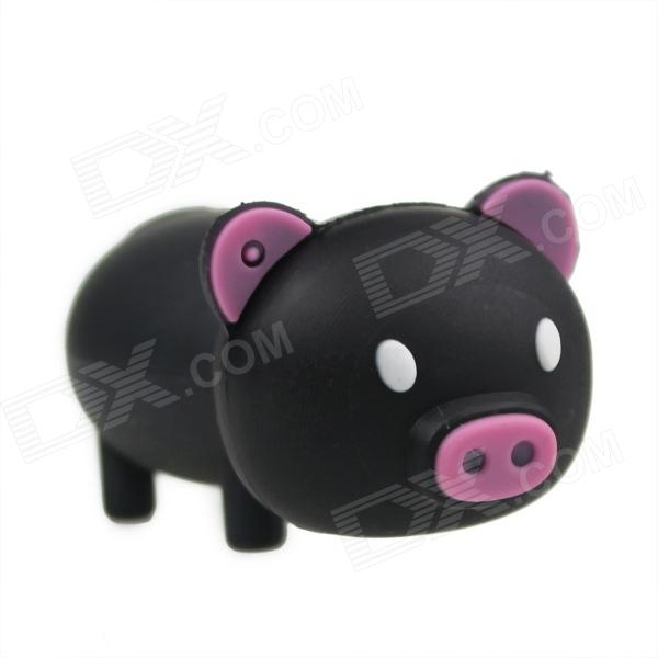 Cartoon Pig Style USB 2.0 Flash Drive - Black (64GB)