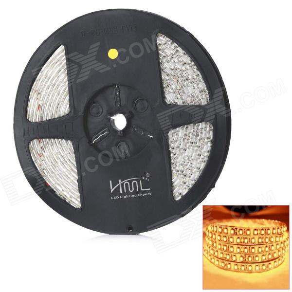 HML impermeável 48W 3300K 2300LM 600-SMD 3528 LED Warm White Light Strip - Branco + Amarelo (12V / 5m)