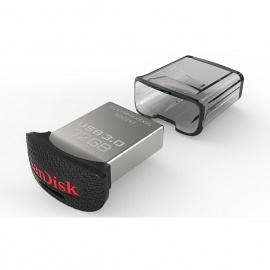 SanDisk 32GB CZ43 Ultra Fit Series USB 3.0 Flash Drive - Black +Silver