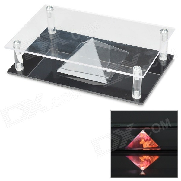 NEJE DIY GX0003D Pyramid 3D Holographic Projecting MV Projector Case - Transparent