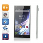 "ZOYO C350 Quad-core Android 4.2.2 WCDMA Bar Phone w/ 5.0"" IPS, Wi-Fi and GPS - Black + White"