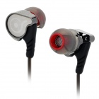 OSTRY KC06 Fashion In-Ear Ear Hook Earphones - Silver + Black (3.5mm Plug / 1.2m-Cable)
