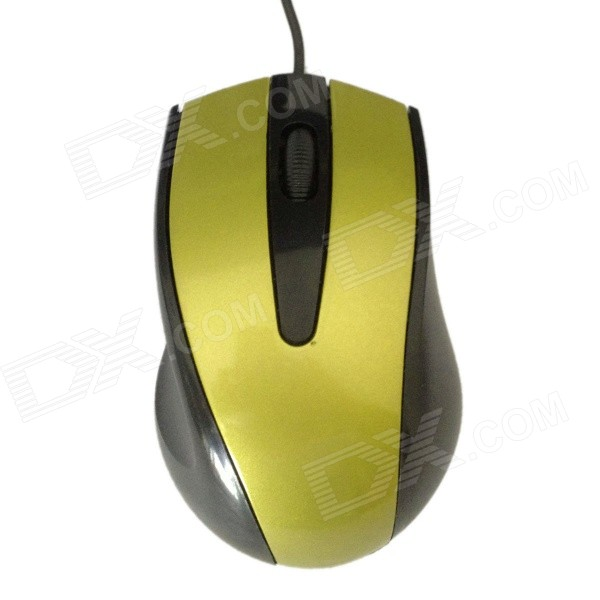USB 2.0 Wired Gaming Laser Optical Mouse - Golden + Black футболка guess guess gu460ebvpk15