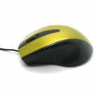 USB 2.0 Wired Gaming Laser Optical Mouse - Golden + Black