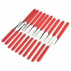 B056 Professional Portable 24-in-1 Steel Lockpick Set - Vermelho