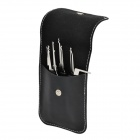 B057 Steel Unlocking Lock Pick Set - Black